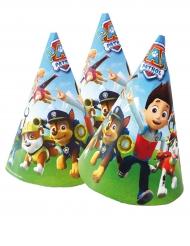 6 Gorros de fiesta Patrulla canina™ 16 x 11 cm