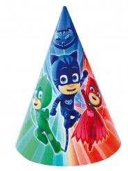 6 Gorros de fiesta PJ Masks™ 16 x 11 cm