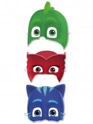 6 Caretas de cartón Pj Masks™
