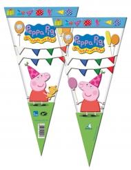 6 Bolsas de fiesta Peppa Pig™ 20 x 40 cm