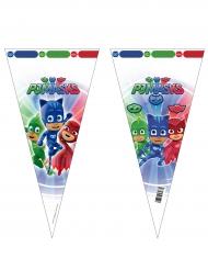 6 Bolsas de fiesta PJ Masks™ 20 x 40 cm