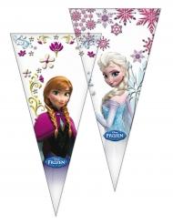 6 Bolsas de fiesta Frozen™ 20 x 40 cm