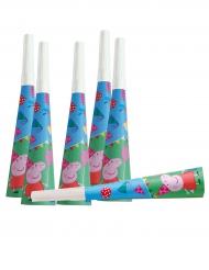 6 Trompetas de cartón Peppa Pig™