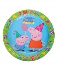 8 Platos de cartón Peppa Pig™ 23 cm