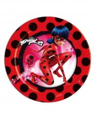 8 Platos pequeños de cartón Ladybug™ 18 cm