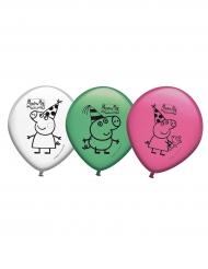 8 Globos látex Peppa Pig™