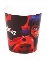 6 Vasos de cartón Ladybug™ 220 ml