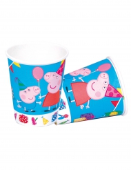 8 Vasos de cartón Peppa Pig™ 220 ml