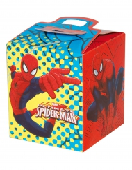 Caja regalo cartón Spiderman™ 9.5 x 9.5 x 11 cm
