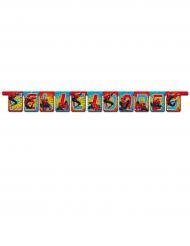 Guirlanda de cartón Felicidades Spiderman™ 1.20 m