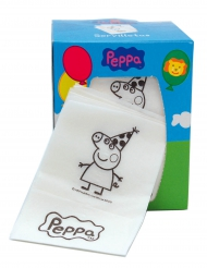 Portaservilletas de cartón con servilletas Peppa Pig™