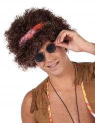 Peluca afro hippie morena - 130 g