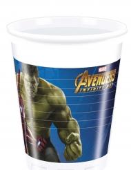 8 Vasos plástico Vengadores Infinity War™ 200 ml