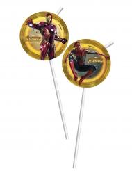 6 Pajitas medallas Avengers Infinity War™