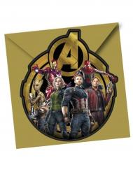 6 Tarjetas de invitación con sobres Avengers Infinity War™