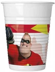 8 Vasos de plástico Los Increíbles 2™ 200 ml