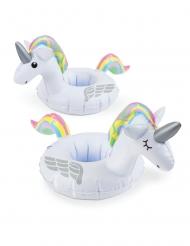 2 Porta bebidas inflable unicornio