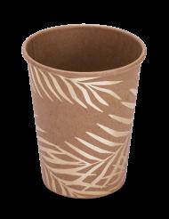8 Vasos de cartón kraft palmera dorada 200ml