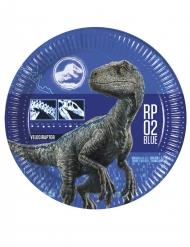 8 Platos de cartón Jurassic World 2™ 23 cm