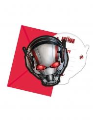 6 Tarjetas de invitación Ant-Man™ con sobres 14 x 9 cm