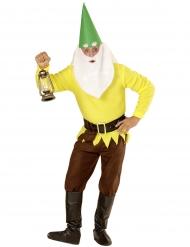 Disfraz enanito amarillo adulto