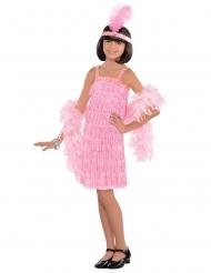 Disfraz charlestón rosa niña