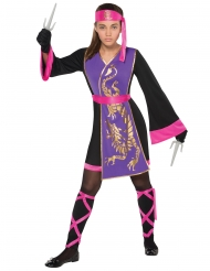 Disfraz ninja rosa y violeta niña