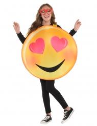 Disfraz emoticono enamorado niño