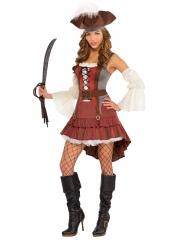 Disfraz pirata sexy asimétrico mujer