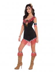 Disfraz india sexy negro y coral mujer