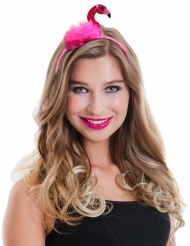 Diadema flamingo rosa adulto