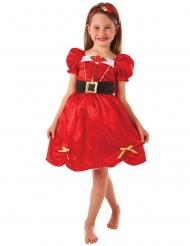 Disfraz miss Navidad rojo niña