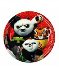 8 Platos de cartón kung Fu Panda 3™ 23 cm
