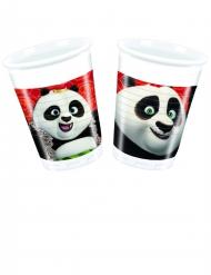 8 Vasos de plástico Kung Fu Panda 3™ 200 ml