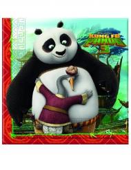20 Servilletas de papel Kung Fu Panda 3™ 33 x 33 cm