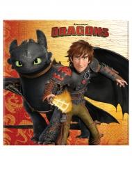 20 Servilletas de papel Dragones™ 33x 33 cm