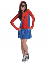 Disfraz Spidergirl™ con capucha niña