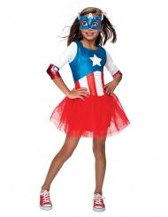 Disfraz Capitán América™ con tutú niña