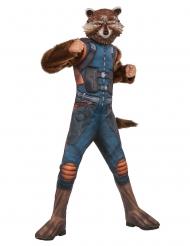 Disfraz de lujo con máscara Rocket Raccoon™ niño