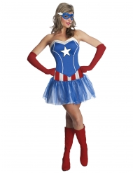 Disfraz vestido tutú Miss América mujer