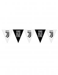 Guirlanda banderines de plástico Juventus™ negro y blanco