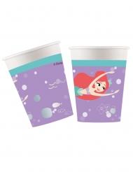 8 Vasos de cartón premium La Sirenita™ 260 ml