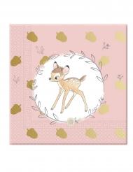 20 Servilletas de papel 33 c 33 cm premium Bambi™