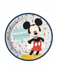 8 Platos de cartón premium Mickey™ 23 cm