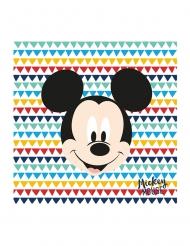20 Servilletas de papel premium Mickey™ 33 x 33 cm