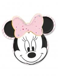 4 Platos de cartón premium rostro Minnie™ 31 x 32 cm