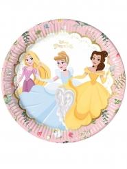 8 Platos de cartón premium Princesas Disney™ 23 cm