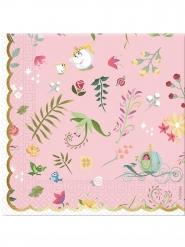 20 Servilletas de papel premium Princesas Disney™ 33 x 33 cm