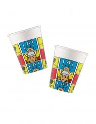 8 Vasos de cartón Avengers™ pop comic 260 ml