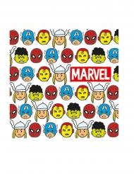 20 Servilletas de papel premium Avengers™ pop comic 33 x 33 cm